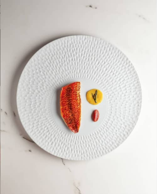Texture plate Chuva | Ceramic Plates by Mieke Cuppen | Restaurante Gaytán in Madrid