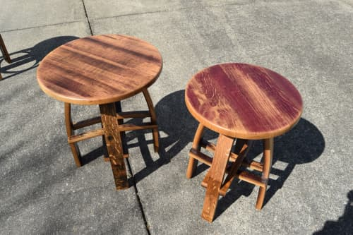 Hash Tage End Table | Tables by RAW Woodworks | Terra Vina Wines Tasting Room in McMinnville