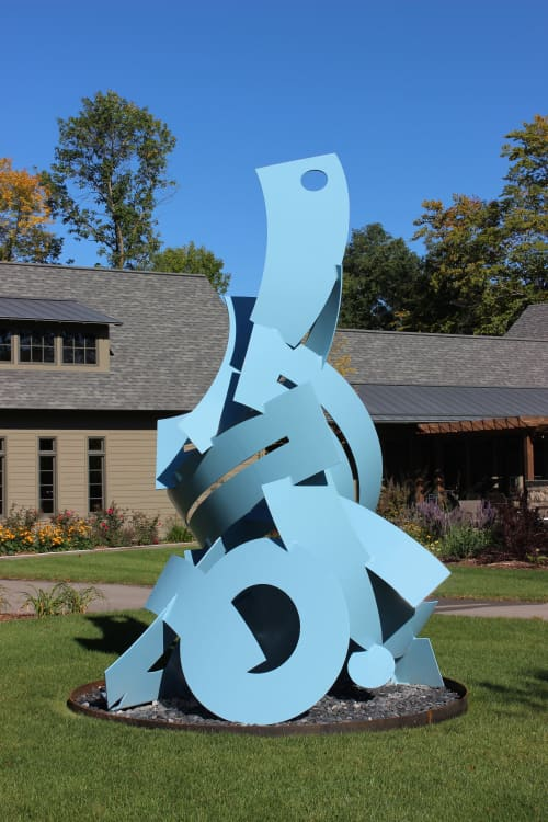 Flowing Happiness | Public Sculptures by Richard Taylor | Grafton, WI in Grafton