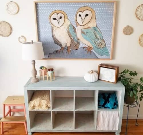 Paintings by Emily Reid seen at Private Residence, Reno - Owl Painting