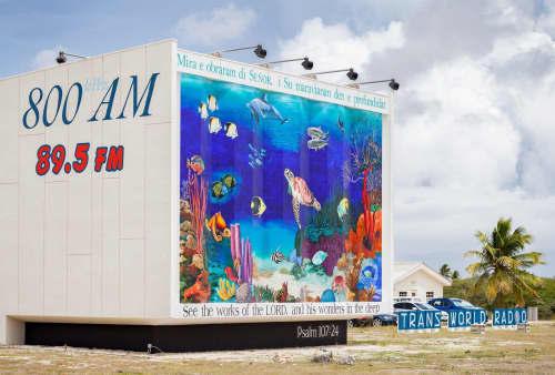 Murals by Mural Art Designs seen at Trans World Radio Bonaire (TWR), Kralendijk - The Oceanic Life of Bonaire