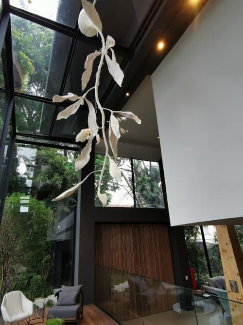 Art & Wall Decor by Estudio Manus seen at São Paulo - SP, Consolação - A Huge Suspended White Botanical Model