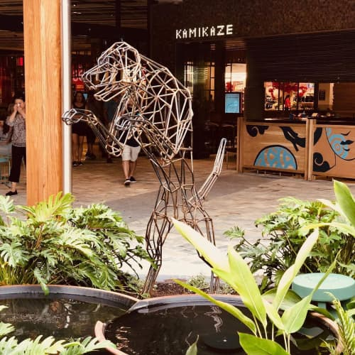 Public Sculptures by Cezary Stulgis seen at Westfield Coomera, Coomera - Leaping Hound