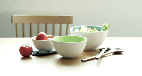 Tableware by Maia Ming Designs seen at Private Residence, Elk Grove Village - Nesting Textured Bowls