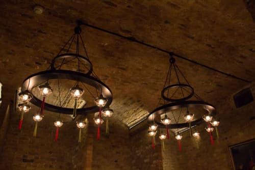 Concentric Hoop Chandelier | Chandeliers by Lutyens Furniture & Lighting