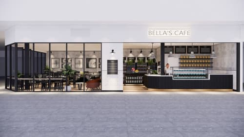 Interior Design by Studio Hiyaku seen at Griffin Plaza, Griffith - Bella's Cafe