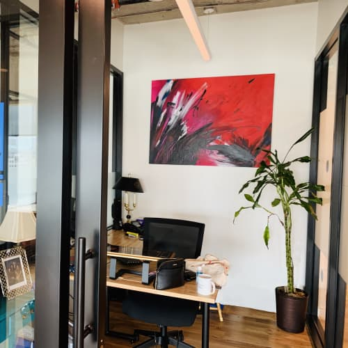 Paintings by Jen Sterling seen at WeWork Coworking & Office Space, Washington - Heat Flash