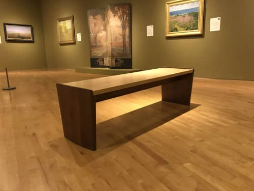 Parenthetical bench   Benches & Ottomans by Eben Blaney Furniture   Farnsworth Art Museum in Rockland