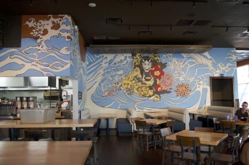 Murals by Dylan Kennedy Murals at Oni Ramen, Fort Worth - Oni Ramen Restaurant Mural
