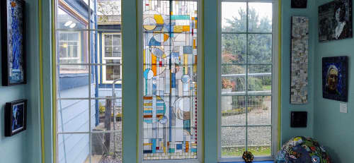 Lighting Design by JK Mosaic, LLC seen at Creator's Studio, Elma - Stained glass mosaic window treatments