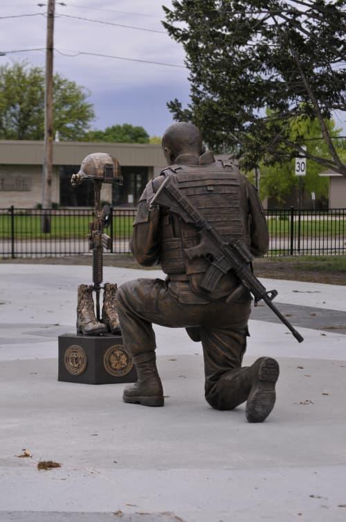 Public Sculptures by Sutton Betti seen at Veterans memorial park, Fremont - Remembering Our Fallen