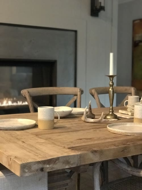 Ceramic Plates by Mary Mcgill Ceramics seen at Private Residence, Los Angeles - Ceramic tableware