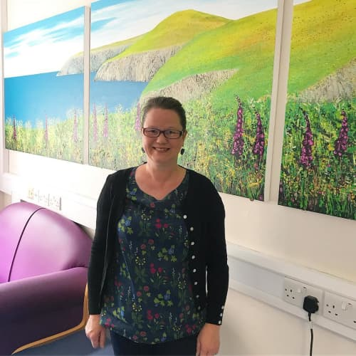 Painting installations | Paintings by Becca Clegg | Frimley Park Hospital in Frimley