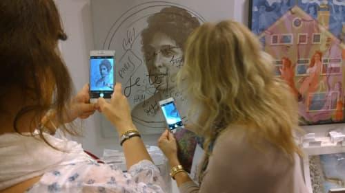Paintings by Tibor Hargitai Art seen at Louvre Museum, Paris - DOTART WOMEN PARIS