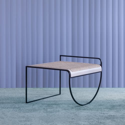 SW Side Table, Cane | Tables by soft-geometry | Soft-geometry Studio in San Jose