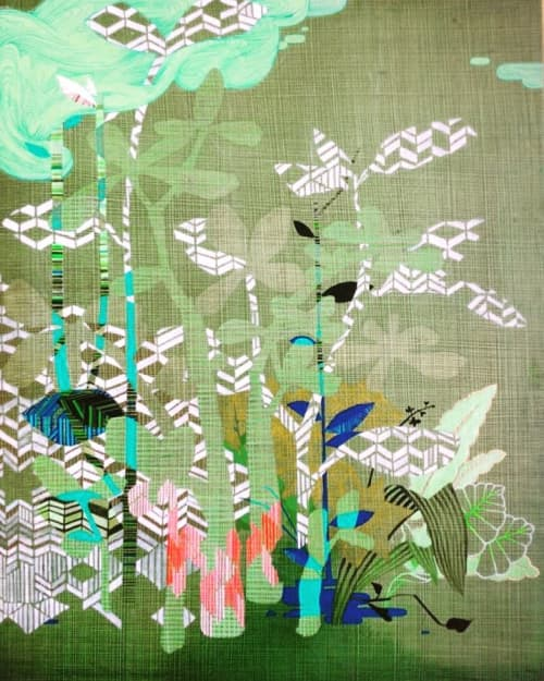 Paintings by Maija Fiebig seen at Private Residence, Seattle, WA, Seattle - Heat Wave