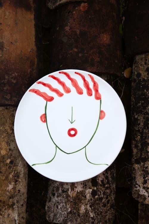 Ceramic Plates by Patrizia Italiano seen at Creator's Studio - Totuccio plate only decor