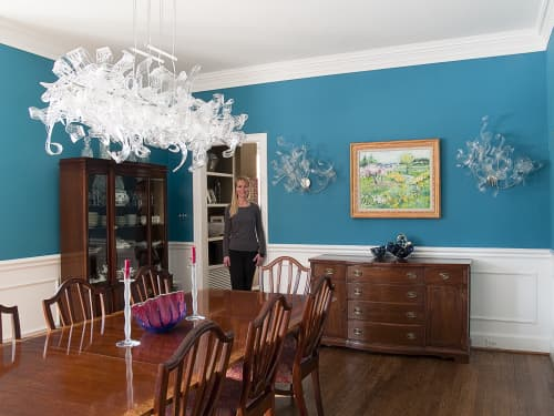 Chandeliers by April Wagner, epiphany studios seen at Private Residence - Crystal 12 Light