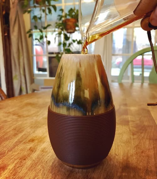 Cork & Carry Porcelain Thermos   Vases & Vessels by Honey Bee Hill Ceramics   Bonnie's Place - Maine Made Treasures in Rockport