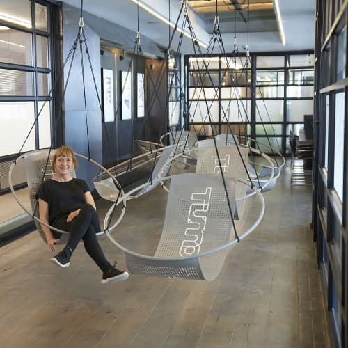 Embroidery hanging swing seat - Design your own   Chairs by Studio Stirling   MESH Club in Johannesburg