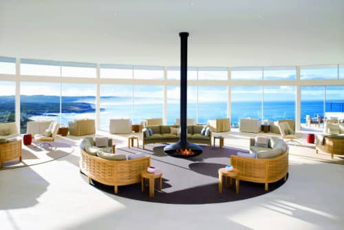 Fireplaces by European Home seen at Southern Ocean Lodge, Kingscote - Gyrofocus Fireplace