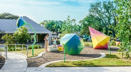 Public Art by Virginia Fleck at Austin Shelter for Women and Children, The Salvation Army, Austin - Reflect and Resound