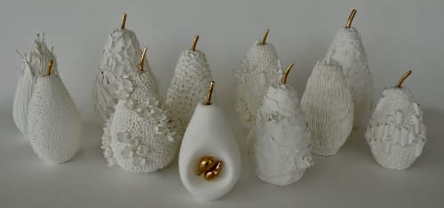 Fruit, the womb of creation - Porcelain   Sculptures by Shweta Mansingka Ceramics