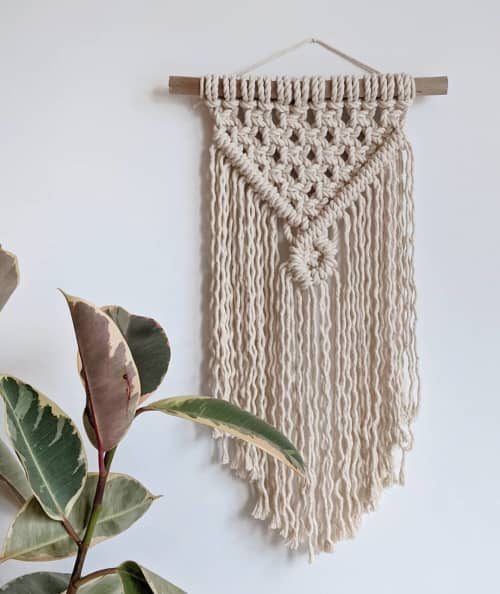 Adele Wall Hanging   Macrame Wall Hanging by Wolf and Sparrow Collective