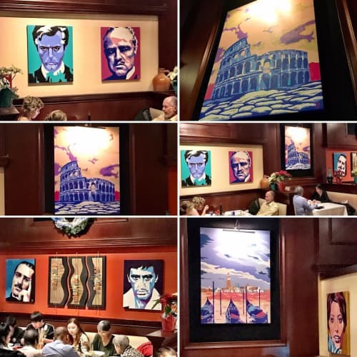 Paintings by DAI art - David Aiazzi at Osteria 177, Annapolis - Osteria Collection