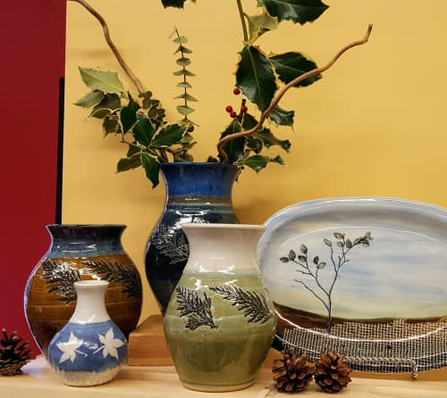 Vases and Platter | Tableware by Orna's Pottery