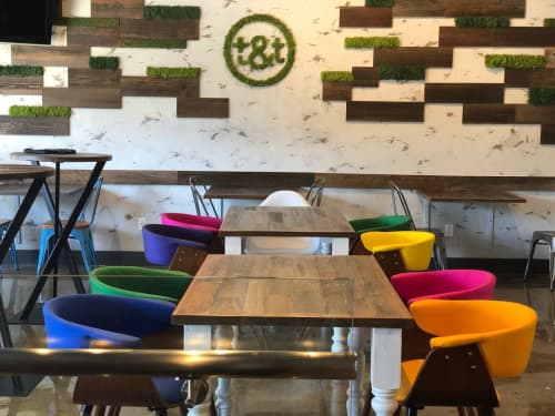 Furniture by STATUSWOOD seen at Teaquation & Tonic, Palo Alto - Custom Furniture
