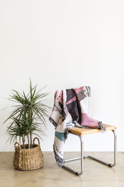 "Linens & Bedding by K'era Morgan - ""Practicing Restraint"" Woven Throw"