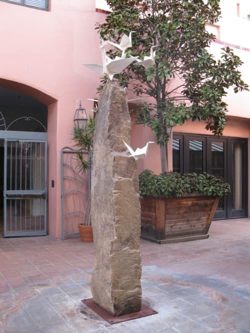 Public Sculptures by KevinBoxStudio. at Acupuncture Santa Monica, Santa Monica - Rising Cranes