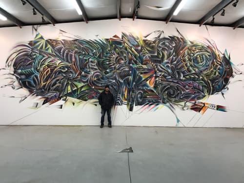 Murals by Max Ehrman (Eon75) seen at Placerville, CA, Placerville - Dodger Airline Hanger