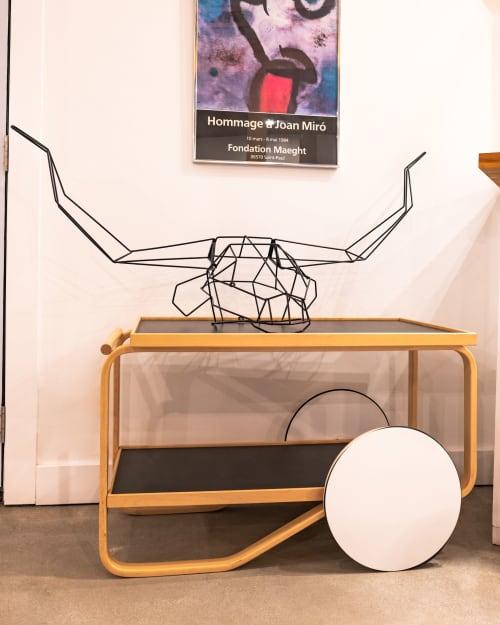 Wall Hangings by Bend Goods seen at Creator's Studio, Los Angeles - Longhorn Trophy Head