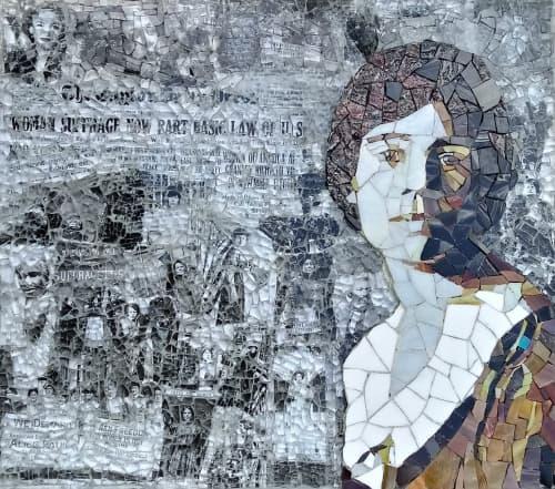 Wall Hangings by JK Mosaic, LLC - Alice Paul Mosaic
