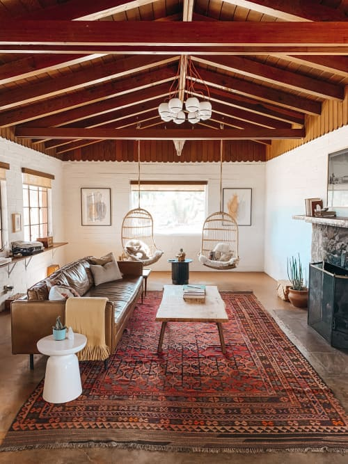 Couches & Sofas by West Elm seen at The Joshua Tree House, Joshua Tree - Axel Leather Sofa