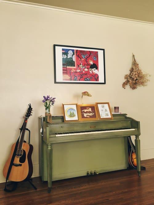 Evergreen Moon, Gemini Hare, & Flower Home | Paintings by Jillian Selene Art