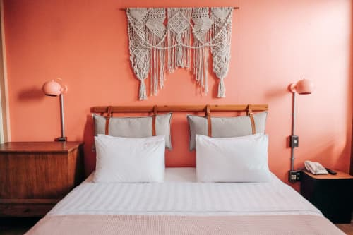 Macrame Wall Hanging by Agnes Hansella seen at The House Tour Hotel with The Potting Shed - MINERVA