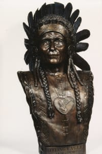 Sitting Eagle | Public Sculptures by Don Begg / Studio West Bronze Foundry & Art Gallery