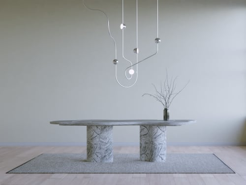 Chandeliers by Ovature Studios seen at Private Residence, Los Angeles - Dia Chandelier Config 2