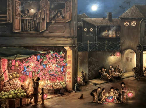 Paintings by Yip Yew Chong - Mid-Autumn Festival