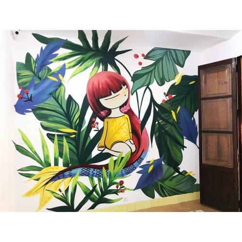 Indoor Mural   Murals by Julieta XLF   Castellón de la Plana in Castellón de la Plana