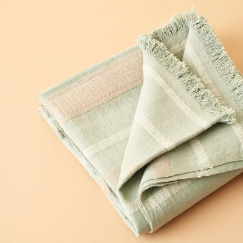 Sage Throw   Linens & Bedding by Studio Variously