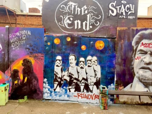 Disney / Star Wars Mural at The End   Street Murals by Ryan Frizzell (The Rhinovirus)   The End in Nashville
