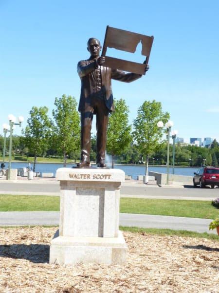 Scott, Walter - Memorial | Public Sculptures by Don Begg / Studio West Bronze Foundry & Art Gallery