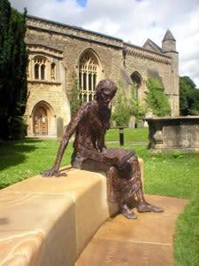 St. Edmund of Abingdon   Public Sculptures by Rodney Munday   St Edmund Hall in Oxford