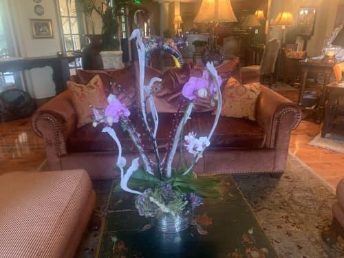 Vintage orchid arrangements   Floral Arrangements by Fleurina Designs   Hotel Los Gatos - A Greystone Hotel in Los Gatos
