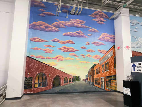 Downtown Mural | Murals by Ali Hval | Antique Car Museum of Iowa in Coralville