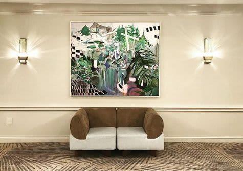 Print of my original (Pool) | Paintings by Gulyas Edina | JW Marriott Miami in Miami